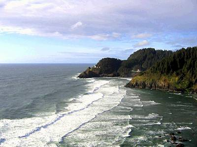 Beautiful Vistas Digital Art - Heceta Head Lighthouse  by Will Borden