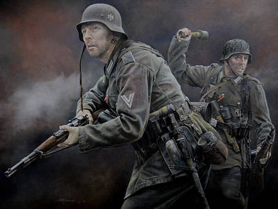 Wehrmacht Painting - Heer Grenadiers by Chris Collingwood