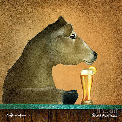 Beer Painting - Heiferweizen by Will Bullas