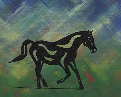Mammals Mixed Media - Heinrich - Abstract Horse by Manuel Sueess