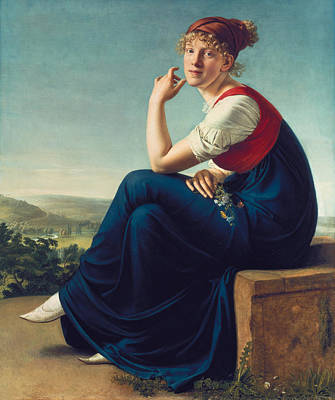 Christian Gottlieb Schick Painting - Heinrike Dannecker by Christian Gottlieb Schick
