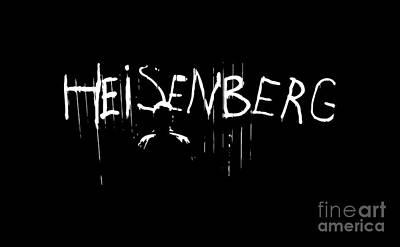 Heisenberg Spraypaint - Breaking Bad Season 5 - Walter White Print by Paul Telling