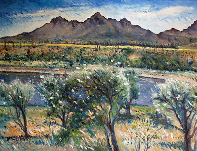 Painting - Helderberg Clearmountain Cape Town South Africa by Enver Larney