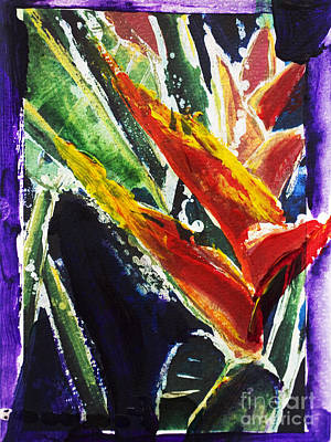 Heliconia Painting - Heleconia by Julie Kerns Schaper - Printscapes