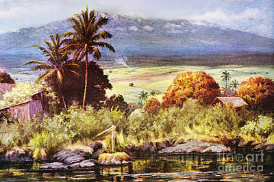 Mauna Kea Painting - Helen Dranga Art by Hawaiian Legacy Archive - Printscapes