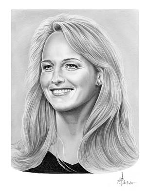 Famous People Drawing - Helen Hunt by Murphy Elliott