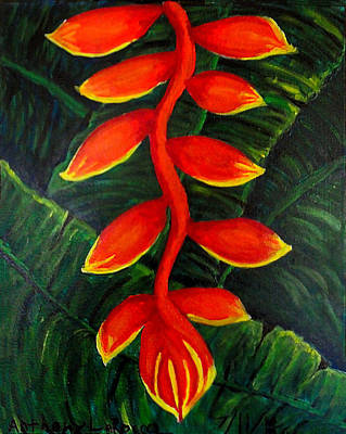 Heliconia Painting - Heliconia by Anthony LaRocca
