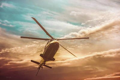 Helicopter Print by Bob Orsillo