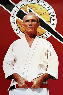 Gracie Mixed Media - Helio Gracie - Famed Brazilian Jiu-jitsu Grandmaster by Daniel Hagerman