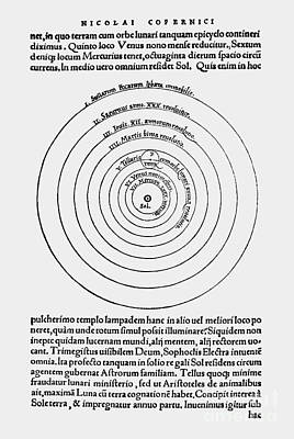 Heavenly Body Photograph - Heliocentric Universe, Copernicus, 1543 by Science Source