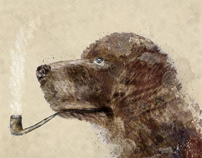 Hello Chocolate Labrador Print by Bri B