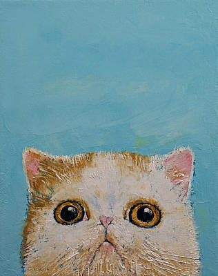 Hello Kitten Print by Michael Creese