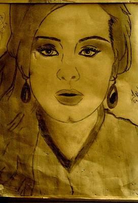 Adele Drawing - Hello by Mishika Raj