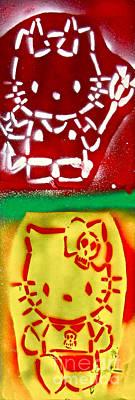 Tony B. Conscious Painting - Hello Punk Kitty by Tony B Conscious