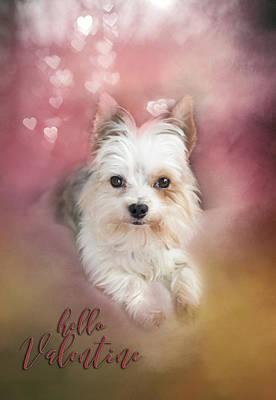 Hello Valentine Original by Mary Timman