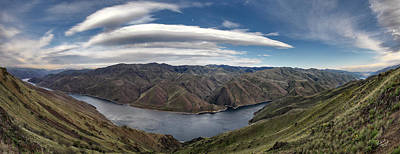 Hells Canyon Panoramic Print by Leland D Howard
