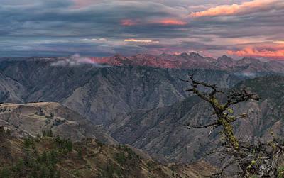 Sheer Photograph - Hells Canyon Sunset 2 by Leland D Howard