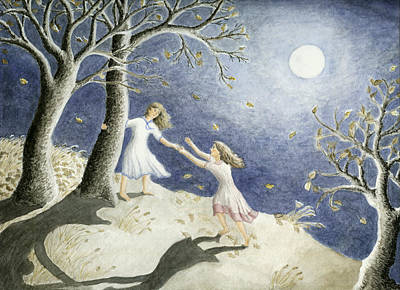Shadow Dancing Painting - Helping Hand by Barbara Gaskell