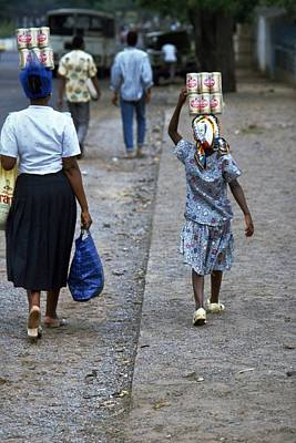 Africa Photograph - Helping Mum In Mozambique by Travel Pics