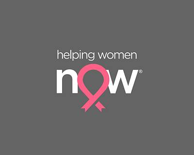 Ribbon Digital Art - Helping Women Now White by National Breast Cancer Foundation