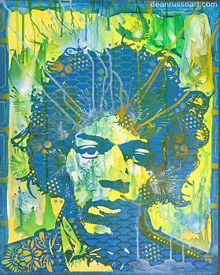 Painting - Hendrix Blue Butterfly by Dean Russo