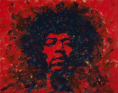 Hendrix Print by Chris Mackie