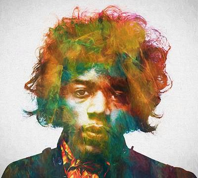 Hendrix Print by Dan Sproul