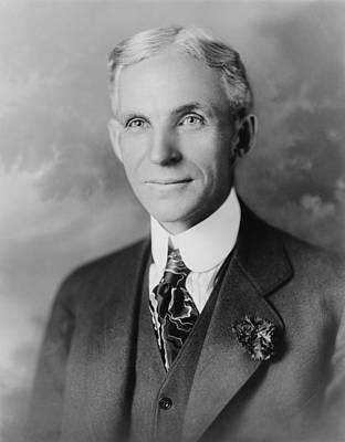 Henry Ford 1963-1947, Founder Of Ford Print by Everett