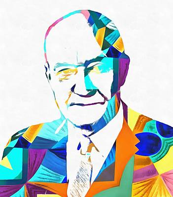 Finance Mixed Media - Henry Hazlitt Colorful Abstract by Dan Sproul