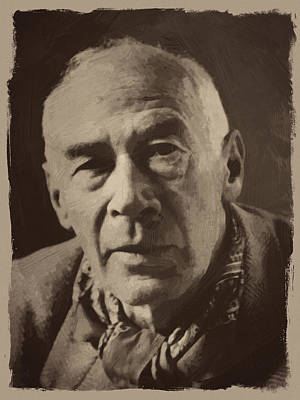 Henry Miller 1 Print by Afterdarkness