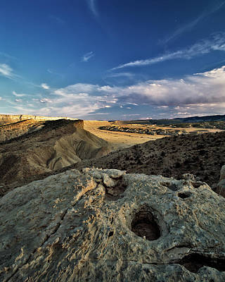 Dried Photograph - Henry Mountain Wsa by Leland D Howard