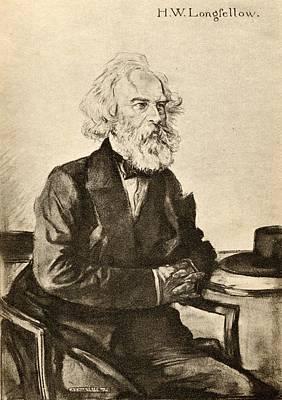 Henry Wadsworth Longfellow, 1807-1882 Print by Vintage Design Pics