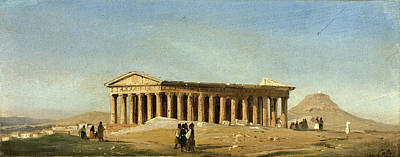 Ippolito Caffi Painting - Hephaestus Temple. Athens by Ippolito Caffi