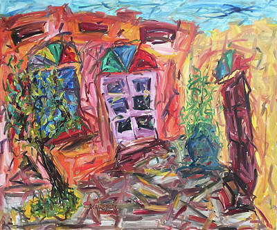 Painting - Her Father S House by Khalid Alzayani