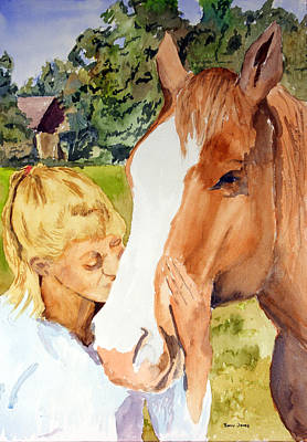Watercolor Painting - Her Friend by Barry Jones
