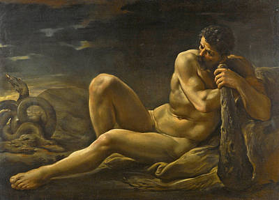 Painting - Hercules And The Lernean Hydra by Ubaldo Gandolfi