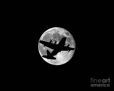 C130 Photograph - Hercules Moon .png by Al Powell Photography USA