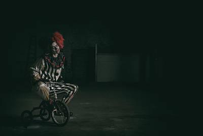 Klown Photograph - Here Comes Kandy by CJ Schmit