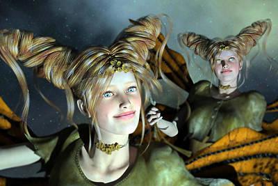 Elf Digital Art - Here Comes Sunshine  by Betsy C Knapp