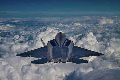 F-22 Photograph - Here Comes The Raptor by Bill Lindsay