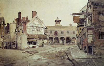 Ghost Town Painting - Hereford by Cornelius Varley