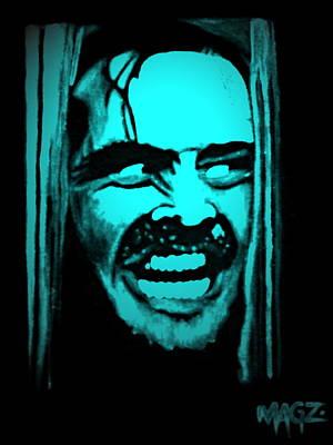 Jack Nicholson Painting - Here's Johnny 2 by Magz Ojeda