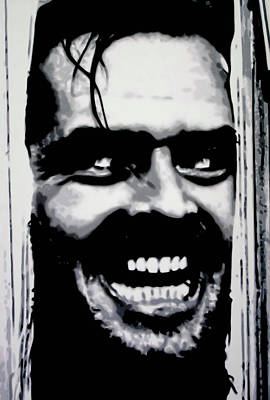 Jack Nicholson Painting - Heres Johnny by Luis Ludzska