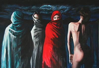 Mideast Painting - Hermanas II by Ryan Swallow