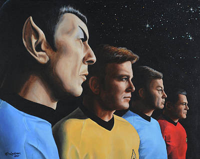 Star Trek Painting - Heroes Of The Final Frontier by Kim Lockman