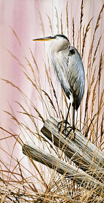 Herons Watch Original by James Williamson