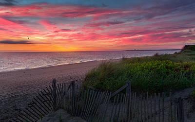 Herring Cove Beach Sunset Print by Bill Wakeley