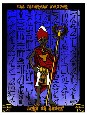 Horus Mixed Media - Heru Sa Aset by Derrick Colter