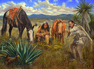 Western Painting - He's Right There by James Loveless