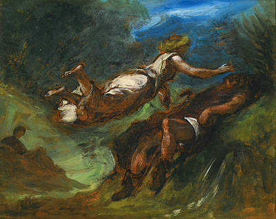 Eugene Delacroix Painting - Hesiod And The Muse by Eugene Delacroix